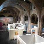 The temporary exhibit on the main floor.