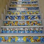 ceramic stairs in Sciacca