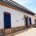 Fachada de la casona colonial de 350 años de antigüedad completamente reconstruida hace unos año