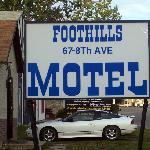 Foothills Motel Entrance Sign