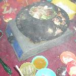 BBQ, steamboat with steam and smoke