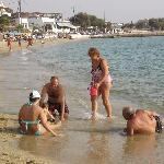 Unsere Gastfamilie am Strand - ein schönes und seltenes Bild