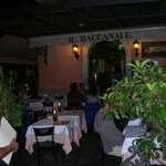 Il Baccanale at night