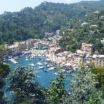 The view from castle brown in portofino