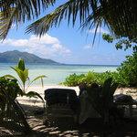 very private beach setting