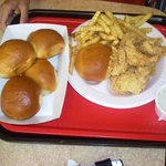 The 7-piece strip deal with extra rolls at Golden Chick in Giddings