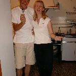 Stelio und Mirta in der Küche
