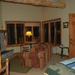 Our room in a river cabin 9-08