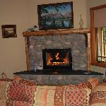 Fireplace in our river cabin 9-08