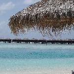les bungalows-sur-pilotis vus le plage