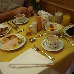 Desayuno con todos los detalles