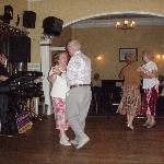 mum and dad dancing in the lounge