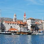View of historic Trogir from Villa Moretti