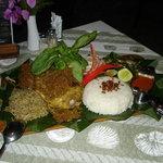 Food at Alise's Restaurant at Sanur-Bali Indonesia