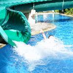 photo of waterslide at kids club pool