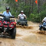 Great Fun in the Ocala National forest riding 4-Wheelers with friends