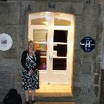 Debbie outside the Nautilus hotel.