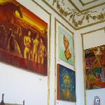 Inside the hostel (art galery)