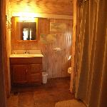 Bathroom at The Settler cabin