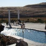 Pool in the morning sun
