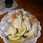 plate of stone crab at Montys
