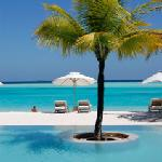 Pool and beach.