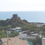 Scalea from Centro Storico with Hotel Genova below