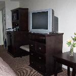 TV and mini-kitchen