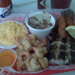 Fried Shrimp and Grilled Flounder Special