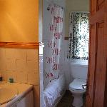 Main bathroom of type D single cottage. It had a full tub/shower.
