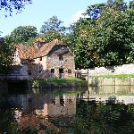 The mill at Mapledurham from the mill pond