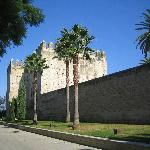 The wall of the Alcazar in Jerez