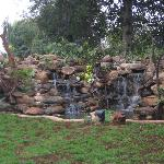 New landscaping/waterfall