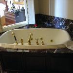 The wonderful jacuzzi tub in the Jackson cottage