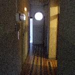 Hallway - dim, dark