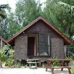 Our hut - ten steps from the beach!