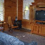The living room and entertainment center.