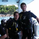 My partner and i just before a dive