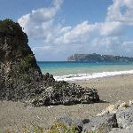 A nearby beach