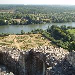 le potager du chateau et la vllée de la Seine