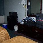 TV Dresser Frig and Microwave
