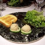 foie gras glaçé en entrée