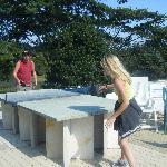 Table tennis in the sun
