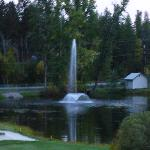 fountain by the golf course