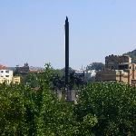View of the monument from the hostel