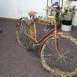 Decorated bike - upstairs in sale area
