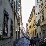 via faenza, hotel on left