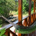 Balcony with hammocks