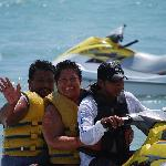 Marta & Jose on their Jet Ski trip to Parasail