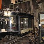 Old Hearse on stage of Bird Cage Theater